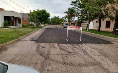 Reparación realizada por la Cooperativa junto a la Comuna local (Calle Antoniutti y 25 De Mayo).